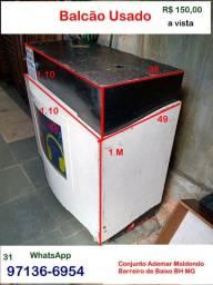 Balcão Usado- com Rodinhas- Barreiro de Baixo BH MG