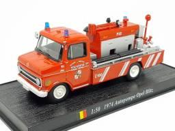 Miniatura carros bombeiros escala 1:64