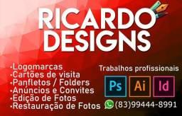 Fazemos Designs Profissionais! R$20