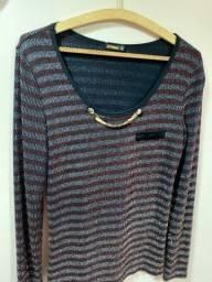 Casaquinho suéter para festa brilhoso noite