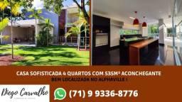 Casa Sofisticada 5 Quartos com 535M² - Bem localizado no Alphaville (R1)