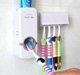 Dispenser de creme dental com suporte para escovas