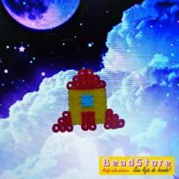 chaveiro Foguete   Hama beads