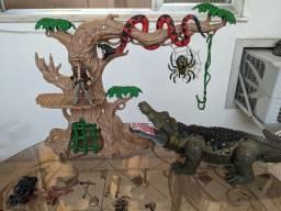 Figuras de ação raríssimas chap mei jungle adventure e piratas vikings