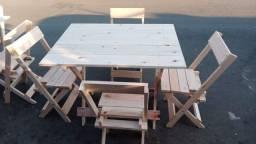 Kit mesas e cadeiras Novas