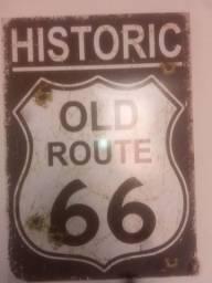 Placa antiga rota 66