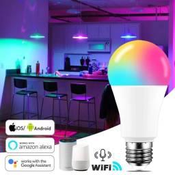 Lâmpada inteligente Led Rgb Smart Google Alexa Wifi bivolt 15w