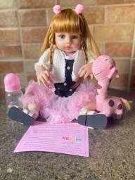 inda boneca bebê Reborn toda em Silicone realista Nova Original (aceito cartão )