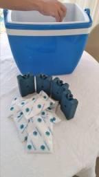 Kit praia/viagem/camping - Placas e bolsas de gelo reutilizável