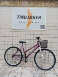 Bicicleta aro 26 feminina com cesta