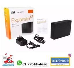 Hd Externo Seagate Expansion - 3 Tb - 3 Tera Lacrado Novo so zap