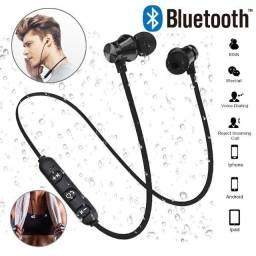 Fone de Ouvido sem Fio Bluetooth com Microfone e Alça de Pescoço