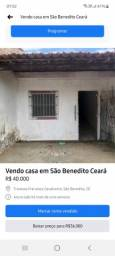 Vendo casa em São Benedito-Ce