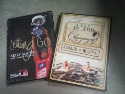 Dois DVD's de surf, Kelly Slater - Letting Go, A Fly In The Champgne