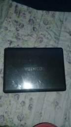 Notebook Toshiba para e retirada de peça