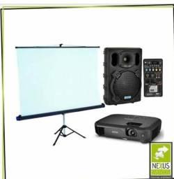 Locação de datashow / projetor e telão aluguel. *