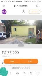 Casa com terreno 250 mts 77mil troco em caminhão