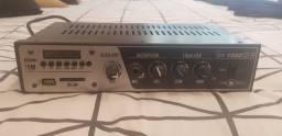 Amplificador Som Slim 1000 USB FM