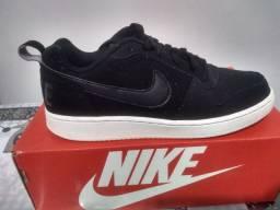 Tênis Nike Original Unissex Eberlon Now  Preto E Branco <br>