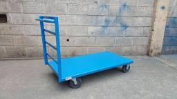 Carro plataforma em chapa (pranchinha)