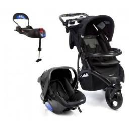Carrinho de Bebe com Bebe conforto Infanti Off Road Onyx com Base Isofix