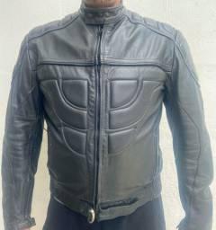 Jaqueta de couro Augustus motociclista