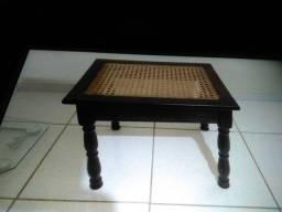 Banqueta de madeira antiga de imbuia