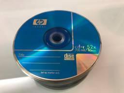 100 CDs e DVDs graváveis novos
