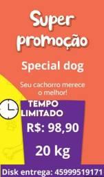 Special dog carne 20kg R$: 98,90