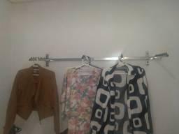 Ótimas araras suporte aço inox loja closet cabide