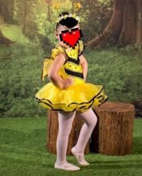 Fantasia Abelha, com asas e tiara - feita sob medida