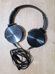 Fones de ouvido Sony c/ case
