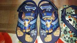 Só hoje duas sandálias só uma custava 50 às duas por 40 zeradas originais