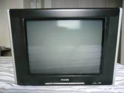 Tv Philips 21 polegada tela plana toda boa