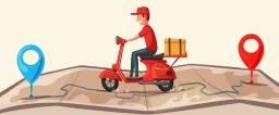Entregas, motoboy (moto com baú)
