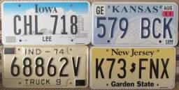Placas de carro originais Estados Unidos USA