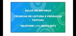 Aula de reforço: prof. de Lingua portuguesa