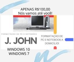 Formatação de PC e Notebook a Domicílio!