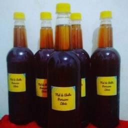 Mel de Abelha Italiana Legítimo 1 Litro Extraído da Flor de Laranjeira e Eucalipto