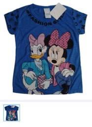 Camiseta Infantil Minie e Margarida Licenciado Disney Tam 4