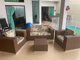 Vendo conjunto de sofá para área externa em boas condições
