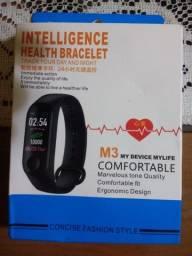 Smartband M3 : marca passos batimentos cardíaco e pressão arterial De 80 por 60
