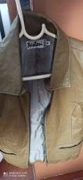 CASACO de COURO marca PARTORI - tamanho M - cor VERDE OLIVA