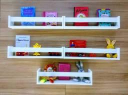 Kit 5 Prateleiras Nichos Decoração Quarto Bebê Criança Fabricação Própria