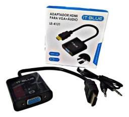 Conversor HDMI x VGA com Audio LE-4121 It.Blue
