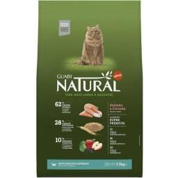 Ração Guabi Natural Salmão e Cevada para Gatos Adultos Castrados 7,5kg