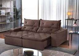 Sofá retrátil e reclinável toronto- Frete grátis