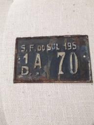 Placa Automotiva antiga