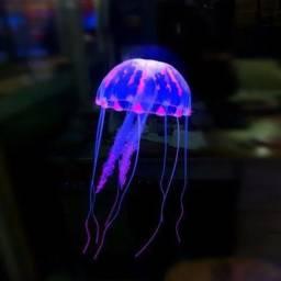 Título do anúncio: 2 Decoração Aquário: Medusa Água Viva Enfeite Silicone