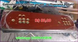Gabinete para controle arcade ou fliperama portal